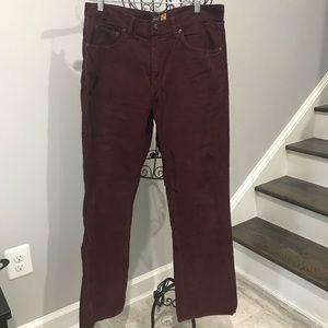 J.Crew Bootcut Corduroy Pants Size 33/22